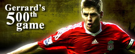 Gerrard's 500th game